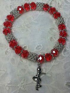 Girl's Dance Hope Angel Bracelet in Red by HopeAngelBracelets
