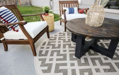 This small patio makeover on a budget is simple and cute! Definitely read this if you are wanting to makeover your outdoor space! | Small Patio Makeover On A Budget | small patio ideas, small patio ideas on a budget, small patio decorating ideas, patio furniture, patio design #joyfullygrowingblog #patioideas #smallpatio #patiofurniture