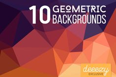 10 Geometric Backgrounds – Deeezy – Freebies with Extended License
