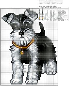 Thrilling Designing Your Own Cross Stitch Embroidery Patterns Ideas. Exhilarating Designing Your Own Cross Stitch Embroidery Patterns Ideas. Funny Cross Stitch Patterns, Cross Stitch Charts, Cross Stitch Designs, Cross Stitching, Cross Stitch Embroidery, Embroidery Patterns, Bead Patterns, Schnauzer Art, Dog Crafts