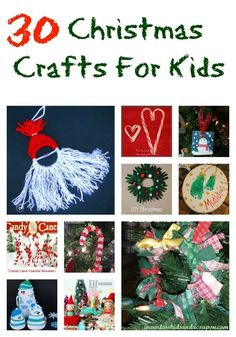These 30 Christmas Crafts For Kids To Make are perfect to make to decorate your house and they even work as a great frugal gift for family and teachers!
