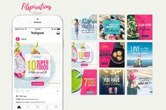 Fitspirations- Social Media KIT by Numszky Creative on @creativemarket
