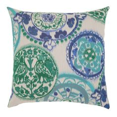 "Elaine Smith 20"" designer throw pillow - Emerald Waters"