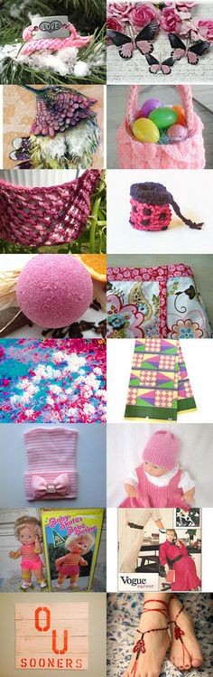 Pink is My Signature Color- DAT Team Treasury by Jennifer Crompton on Etsy--Pinned with TreasuryPin.com
