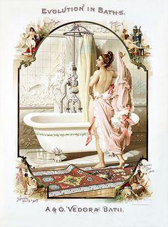 Fancy bathroom-print for wall art