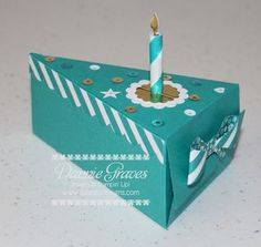 Stampin' Up! piece of cake made using the Cutie Pie thinnest