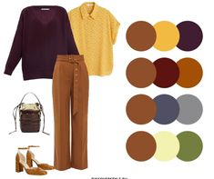 Colour Combinations Fashion, Color Combinations, Orange Top Outfit, Women's A Line Dresses, Color Blocking Outfits, Classic Style, My Style, Capsule Wardrobe, Lounge Wear