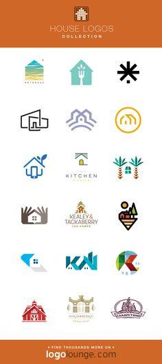 home logo Logo Collection : House vector logo designs. Home building str Vector Logo Design, Branding Design, Haus Vektor, Building Logo, Building Structure, Create Logo, Inspiration Logo Design, Design Ideas, Property Logo