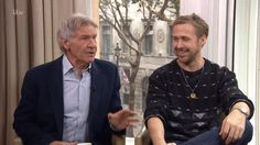 Watch Ryan Gosling and Harrison Ford Lose It During TV Interview Moving Photos, Harrison Ford, Ryan Gosling, Can't Stop Laughing, Good News, Celebrity News, Interview, Stars, Tv