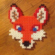 Fox perler beads by sophiduck