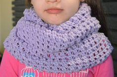 Handmade Crochet Light Purple Wide Infinity Scarf by FarahsAttic, $15.00