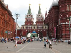 Iberian gate to the Red Square. Moscow (Russia).