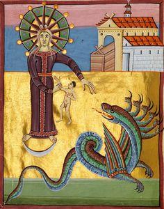 "Apokalypse und Evangelistar ('Bamberger Apokalypse'). Reichenau ca. 1010 ""A…"