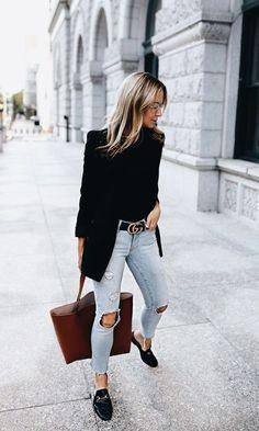 14 Outfits para chicas que pueden ir de jeans al trabajo