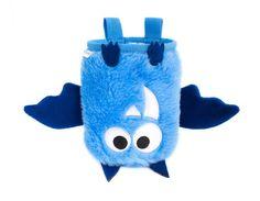 Blue Bat Chalk Bag, Rock Climbing Chalk Bag by Crafty Climbing