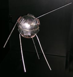 "December 6, 1957: Two months after Sputnik, the US tried to launch this TV-3 satellite on a Vanguard rocket. The rocket exploded moments after launch. Amazingly, TV–3 survived, damaged but intact. Newspapers around the world nicknamed the little satellite ""Kaputnik,"" ""Flopnik,"" and ""Dudnik."" / On display at the Museum in DC."