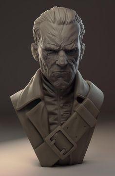 Sculpted in Zbrush, render in Modo. Zbrush Character, Character Modeling, Character Art, Character Design, Sculpture Head, Lion Sculpture, Digital Sculpting, 3d Figures, Art Anime