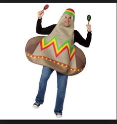 A sombrero hat costume for a Mexican costume party!