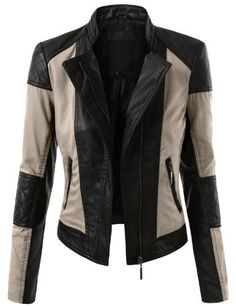 #J.tomson Faux #Leather Rider #Moto-Jacket