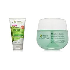 #Garnier #SkinActive Clean+ #Invigorating #Face #Scrub, #Normal #Skin, #5 #fl. #Oz & #Garnier #SkinActive #Moisture #Rescue #Face #Moisturizer, Normal/Combo #Skin, 1.7 #oz Gently refines pores and energizes #skin With peppermint With jojoba beads https://
