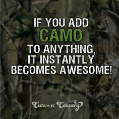 Cool not awesome. I like to reserve Awesome for GOD! :) But yes if You add realtree camo then yes I love it!