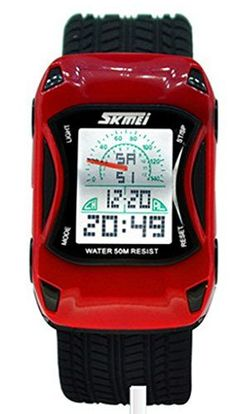 Cool Car Shape Digital Wrist Watches Waterproof *** To view further for this item, visit the image link.