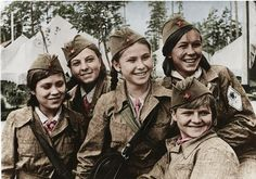 Soviet female snipers during WW2