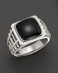 J. Goodman Sterling Silver Onyx Ring