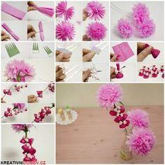 Květinky z papíru