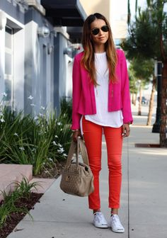 Jeans: gifted Insight (similar here + here) | Tank: Zara | Blazer: F21 (similar here) | Sneakers: Jack Purcell | Bag: Marc Jacobs | Shades: Ray Bans | Watch:gifted Diesel | Necklaces: Vintage & gifted Albeit (image: sincerelyjules)