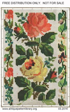 Cross Stitch Rose, Wool Yarn, Needlepoint, Needlework, Upholstery, Costumes, Embroidery, Holiday Decor, Color