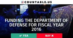 $578.6 Billion —Is it Enough to Fund the Whole Dept. of Defense? Vote! #Defense #FiscalYear2016 #VeteransAffairs #Government #Budgets #Funding #Military #Politics #Countable