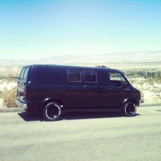 The Vans are back in town: Photo Dodge Van, Chevy Van, Cool Vans, Black Vans, Dodge Trucks, Custom Vans, Rally Car, Van Life, Mopar