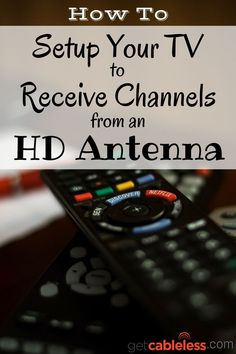 With these simple steps, I was able to setup all the TV's in my house so I could watch free HD stations through my new antenna. Simple Life Hacks, Useful Life Hacks, Diy Tv Antenna, Tv Without Cable, Cable Tv Alternatives, Free Tv And Movies, Tv Options, Cable Options, Tv Hacks