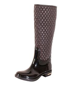 This Brown Quilted Axel Rain Boot by Nomad Footwear is perfect! #zulilyfinds