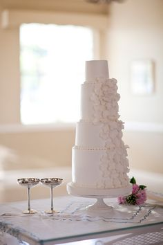 white #wedding #cake | Justin DeMutiis