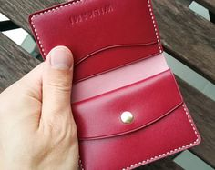 Leather Passport Wallet, Handmade Leather Wallet, Leather Card Wallet, Leather Bifold Wallet, Leather Purses, Minimal Wallet, Wallet Pattern, Stitching Leather, Leather Projects