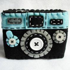 Felt Camera case: from Plushism's etsy shop http://minivideocam.com/product-category/camera-cases/