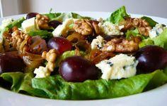 cocina de mercado: Ensaladas de Uva Rosada y Queso Azul