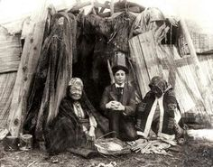 Everett photographer Norman Edson made this picture of himself with two Tulalip elders in 1905.