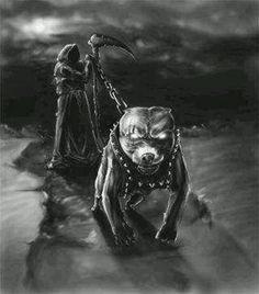 Reaper and his loyal pit bull