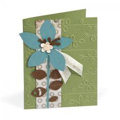 Embossed Flower & Stem Card