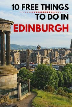 Travel guides are useful for tourists, but when it comes for budget conscious backpacker, it's local recommendation that gives you the best information. we are really pleased to share with you our top 10 tips for free things to do in Edinburgh Scotland Vacation, Scotland Travel, Scotland Trip, Edinburgh Travel, Glasgow Scotland, Oh The Places You'll Go, Places To Travel, Travel Destinations, Travel Things