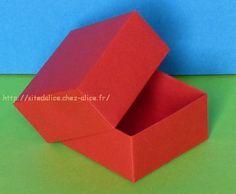 Origami Boite carrée
