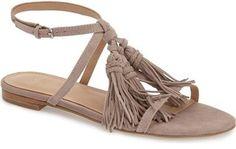 28a3de54d MARC FISHER LTD  Crystal  Tassel Flat Sandal (Women) Flat Sandals