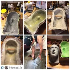 #Repost @infected_fx - This epoxy system is incredible! #smoothon #epoxymolds #epoxamite100 #epoxycoating #epoxacoatgrey #fiberglass #bondo #sfx #sfxmakeup #lifecast #sfxmua #infectedfx #shoplife #safetyfirst #bodydoublesilk
