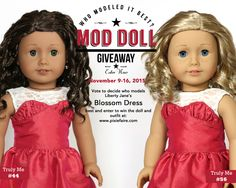Enter to win an American Girl® doll and Liberty Jane® outfit. Mod Doll Giveaway at Pixie Faire. American Girl Crafts, American Girl Clothes, Ag Doll Clothes, Doll Clothes Patterns, Pixie, Journey Girls, Our Generation Dolls, Barbie Doll House, Doll Hair