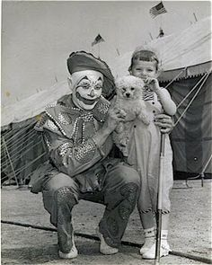 Clown from Ringling Brothers, 1952.
