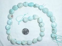 """Blue Caribbean Larimar Jasper Raw Material Free Form Nuggets Chips Beads 15/"""""""