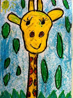 Wasco Art Lessons For Kids, Art Lessons Elementary, Art For Kids, Jungle Theme Classroom, Giraffes Cant Dance, Zoo Art, Kindergarten Art Projects, Giraffe Art, Easy Art Projects